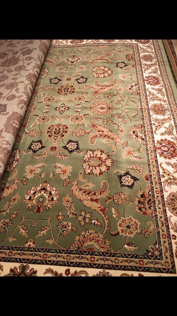 New classic green rug size 8x11 nice light green carpet
