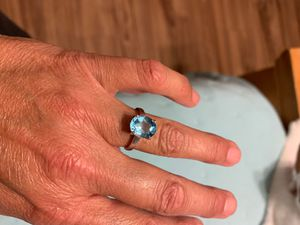 Silver & Blue Topaz Ring for Sale in Indian Harbour Beach, FL