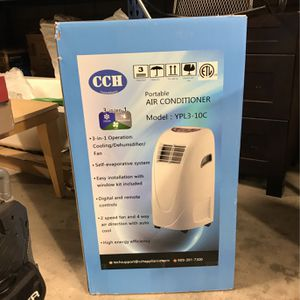 Global Air YPL3-10C - 6,500-BTU (10,000 BTU ASHRAE) 3 in 1 Portable Air Conditioner with Dehumidifier, Fan and Remote for Sale in Tijuana, MX