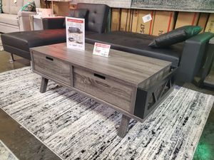 Melody Coffee Table, Distressed Grey and Black for Sale in Westminster, CA
