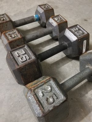 Dumbbell Set 80lbs 15-25lbs - EXCELLENT SET - Dumbbells for Sale in Mansfield, TX