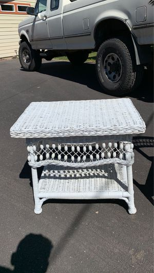 Wicker side table for Sale in Sisters, OR