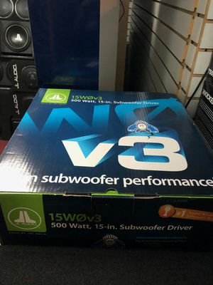 Jl audio 15wov3 on sale today message us for the best deals in la for Sale in Los Angeles, CA