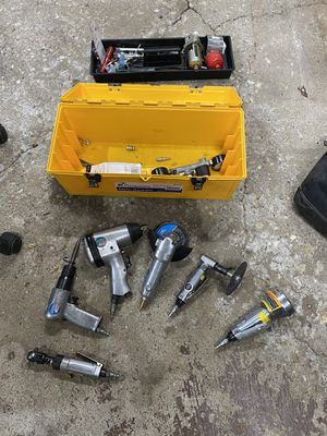 Tool box of air tools for Sale in Roselle, IL