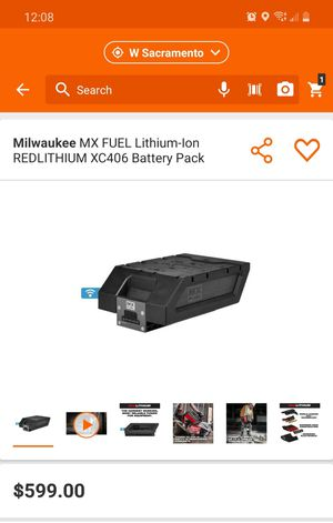 NEW!!!! Milwaukee MX FUEL Lithium-Ion REDLITHIUM XC406 Battery Pack for Sale in Elk Grove, CA