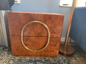 Gorgeous live wood end table / console, beautiful 2 drawer for Sale in Brooklyn, NY