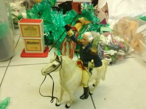 Vintage George Washington action figure with horse 1950s for Sale in Oakland Park, FL
