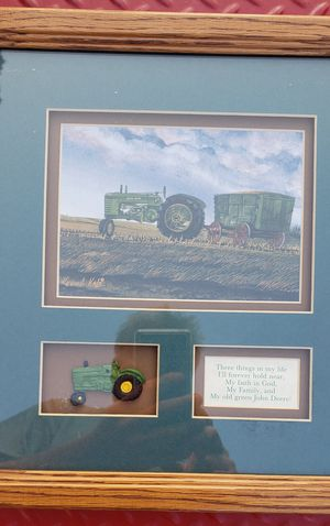 JOHN DEERE SHADOW BOX COOL PICTURE DESIGN for Sale in East Petersburg, PA