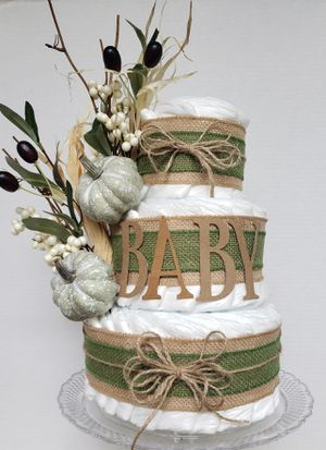 Gender neutral diaper cake for Sale in Centreville, VA