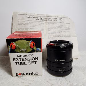 Vintage Kenko Extension Tube Set 36mm 20mm 12mm CFE Canon + Instructions OA1A01 for Sale in San Luis Obispo, CA