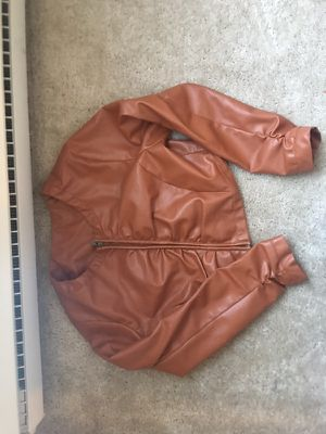 Light brown leather jacket for Sale in Cleveland, OH