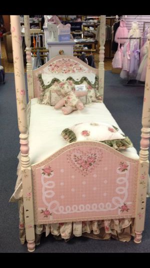 Twin size handpainted bed for Sale in Philadelphia, PA