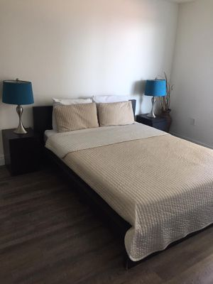 Queen size bed ikea, malm with mattress and nightstands for Sale in North Miami, FL