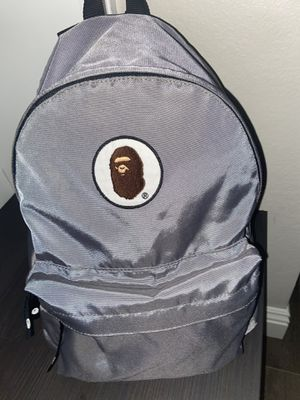 Grey reflective Bape backpack for Sale in March Air Reserve Base, CA