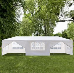 Outdoor 10'x20' Canopy Party Gazebo Pavilion 4 Sidewall Wedding Tent Outdoor Garden Shelter Shade for Sale in Hollywood,  FL