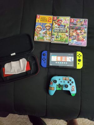 Nintendo switch with 3 games and pro controller for Sale in Parsons, KS
