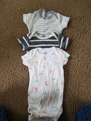 Baby clothes nb-3/6 months with shoes for Sale in Webberville, MI