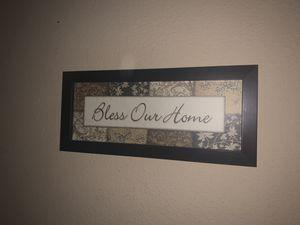 Bless our home decore for living room for Sale in Rosenberg, TX