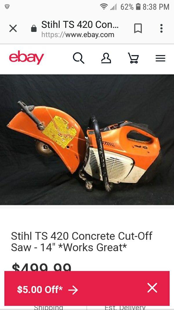 Stihl concrete saw