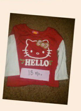 Hello Kitty Christmas Shirt 18 mo. for Sale in Pontiac, MI