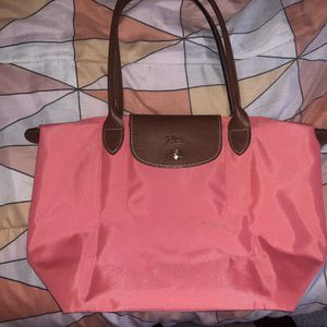 Longchamp medium pink tote (authentic) for Sale in Washington, DC