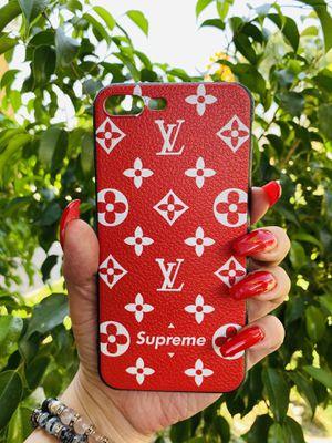 Brand new cool iphone 7+ or 8+ PLUS case cover rubber red girls guys mens womens skate skateboard swag brands hype hypebeast fundas for Sale in San Bernardino, CA