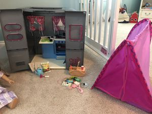 Doll camper and accessories, fits American girl for Sale in Franklin, TN