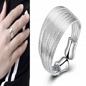 Classy Boho Silver Plated Multi Line Wire Shield Adjustable Open Thumb Ring for Sale in Fort Lauderdale, FL