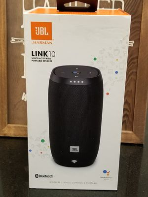 (2) JBL Link 10- Bluetooth, wireless, voice controlled portable speaker w/ Google Assistant for Sale in San Antonio, TX