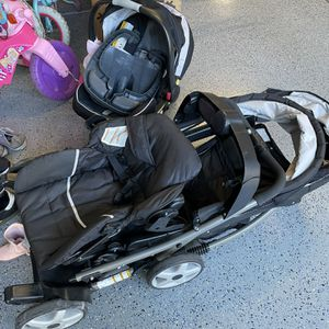 Graco Click Tight Infant Car seat With Double Stroller for Sale in Irvine, CA