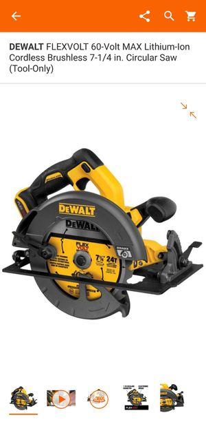 dewalt flexvolt circular saw for Sale in Homestead, FL