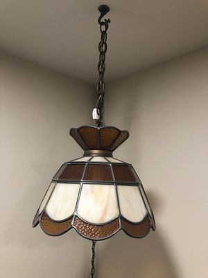 Antique hanging lamp brown for Sale in San Diego, CA