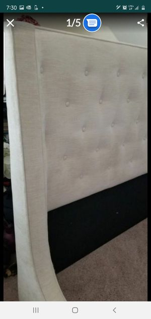 Queen Tufted Headboard from Arhaus - Color Cream - $220 for Sale in Simpsonville, SC