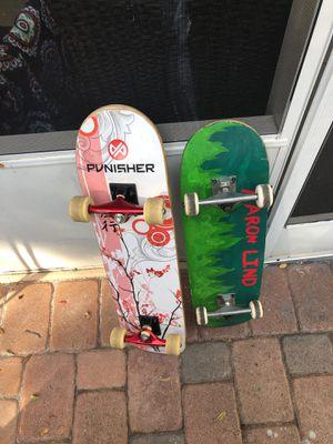 2 skateboards for Sale in Parkland, FL