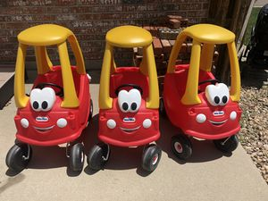 Little Tykes Cars ($10/ea or $25 for all three) for Sale in Arvada, CO