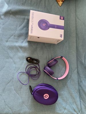 Beats Solo3 Wireless On-Ear Headphones - Beats Pop Collection - Pop Violet for Sale in Renton, WA