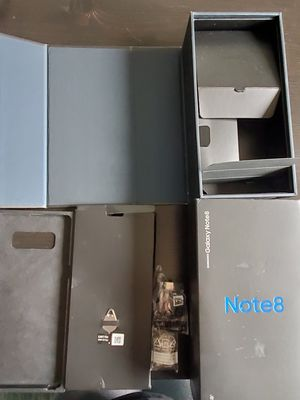 Galaxy Note 8 Box, USB adapter, eject pin, replacement tip and tip removal tool and screen protector for Sale in Camas, WA