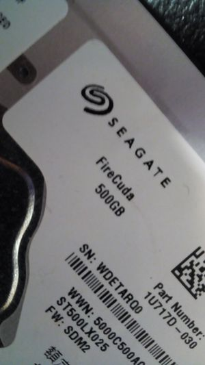 Seagate firecuda sshd 500gb for Sale in Montgomery, AL