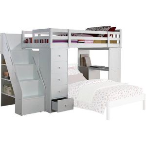 Acme Freya Loft Bed with Bookcase Ladder and Desk, White, AA-9845 for Sale in St. Louis, MO