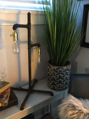 Black Industrial Lamp Absolutely stunning 27 inches Tall Base 17 inches Wide Light Metal Material for Sale in Riverside, CA
