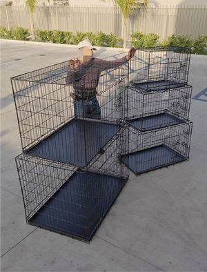 "New $25 to $65 range 24"" 30"" 36"" 42"" 48"" foldable 2 doors dog cage crate kennel collapsible jaula de perro for Sale in Whittier, CA"