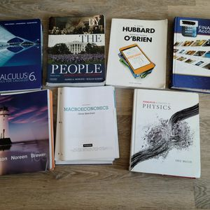 Textbooks For Sale! [Physics, Economics, Accounting, History] for Sale in Seattle, WA