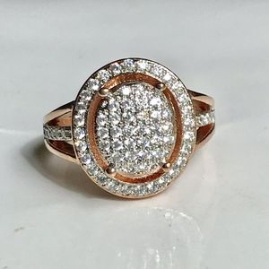 14k rose gold plated stimulated diamond ring for Sale in Silver Spring, MD