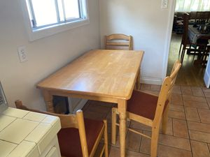 Free wooden Kitchen Table and 3 chairs! for Sale in Los Angeles, CA
