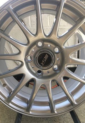 MSR 15 x 6.5 Nissan silver paint Lug pattern 5 on 110mm offset 38 mm for Sale in Raleigh, NC