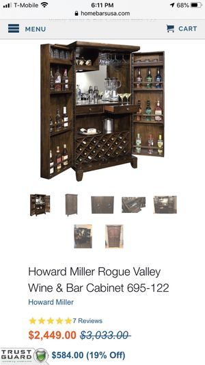 Brand New Howard Miller Wine & Liquor Cabinet for Sale in Las Vegas, NV