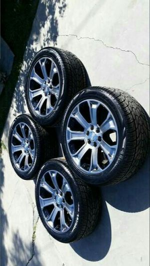 22 GM Gray Black 2018 Factory OEM Original Wheels NEW Lionhart Tires for Sale in Long Beach, CA