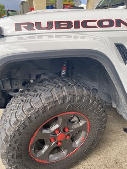 33R17 5 tires and wheels jeep rubicon 90% for Sale in Fort Lauderdale,  FL