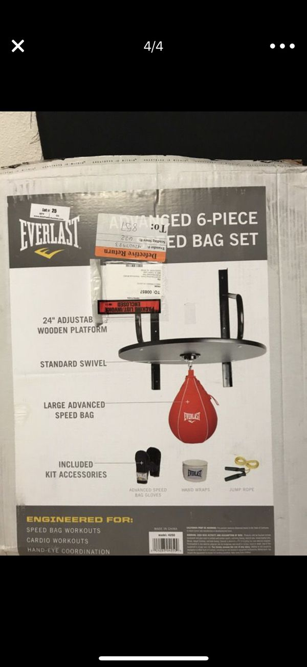 Everlast Speed bag set