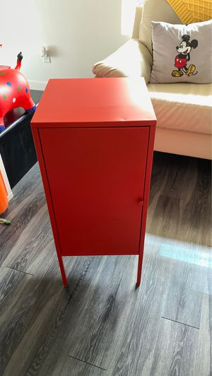 IKEA metal cabinet set of 2 bright red for Sale in Glendale, CA